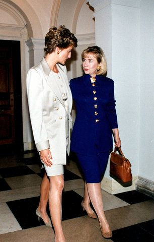 Princess Diana and first lady Hillary Clinton.