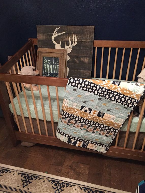 Nursery Bedding Crib Bedding Baby Boy Strip by SproutCribCouture