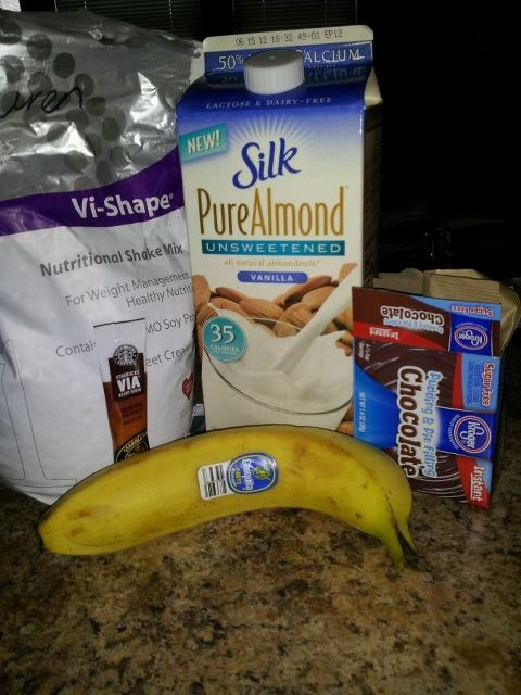 by Vi shake - sooo good. My favorite - Almond Milk, Instant Coffee ...