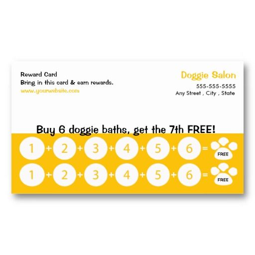 dog grooming business card loyalty card dog grooming business loyalty and paper. Black Bedroom Furniture Sets. Home Design Ideas