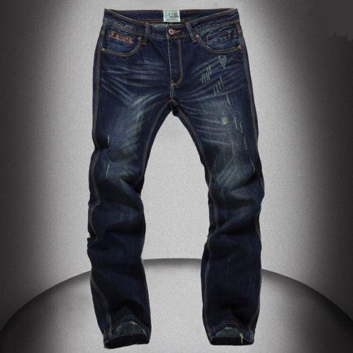 High Quality Mens Jeans Famous Brand Designer Straight Slim