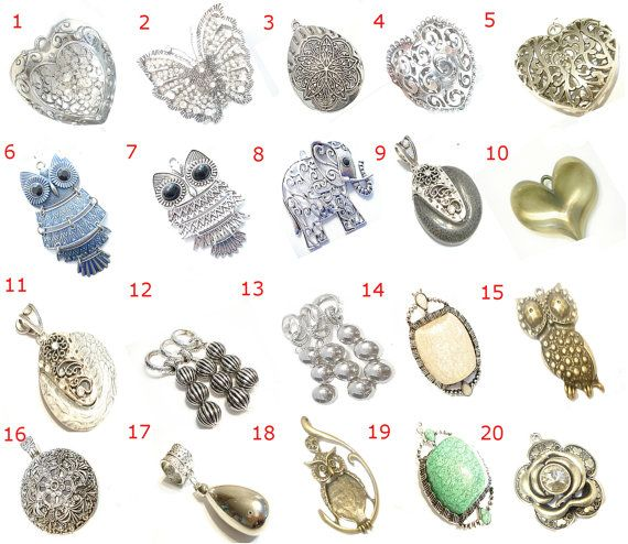Necklace Scarf Jewelry Pendants Scarf Components by coreringscarf, $10.99