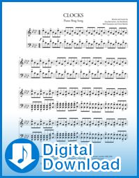 Clocks - Coldplay simplified piano sheet music. NEW from PianoBragSongs.com. Learn songs you can brag about!