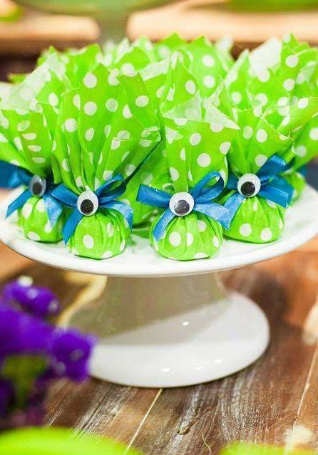 Monster Party Birthday Party Favors!  See more party planning ideas at CatchMyParty.com!