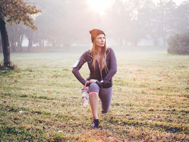 fat burn, cold weather, woman at bootcamp