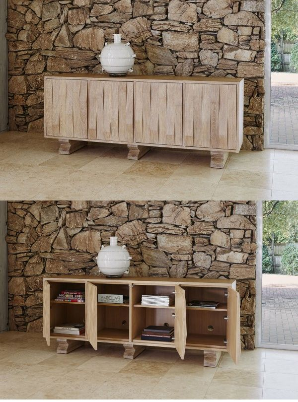 Ambella Homeu0027s See Saw #Credenza Features American White Oak With An Ivory  Ceruse Finish.