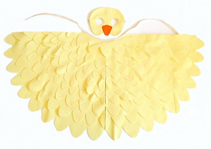 Duck costume for kids and toddlers. Little duckling costume in young kids and toddler size. Duck mask and wing cape costume accessory.