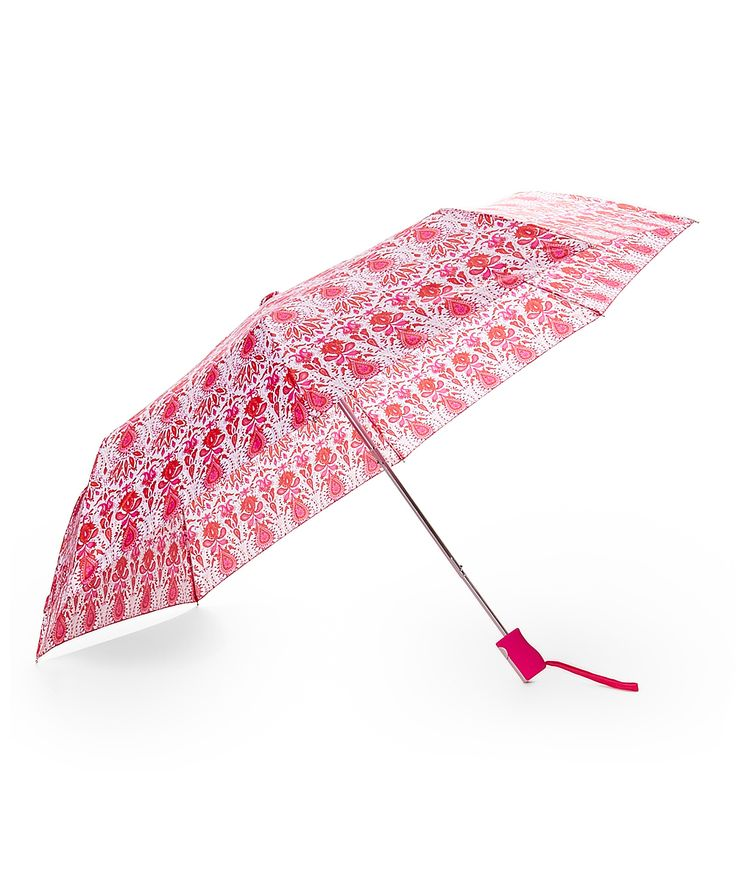 Pink Damask Compact Umbrella