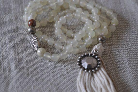Spiritual Beaded Necklace Awaken by ShinseinaJewellery #mala #awaken #beads #sustainable #ethical #fashion #beauty #intention #shinseina