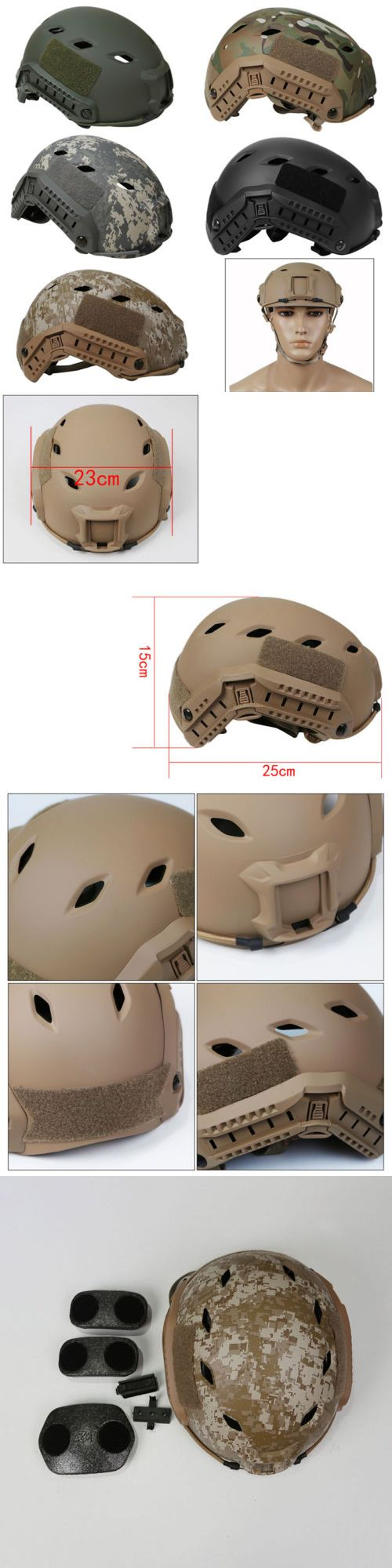 Hats and Headwear 177892: Outdoor Airsoft Military Tactical Combat Helmet Fast Bj Navy Style Adjustable -> BUY IT NOW ONLY: $66.45 on eBay!