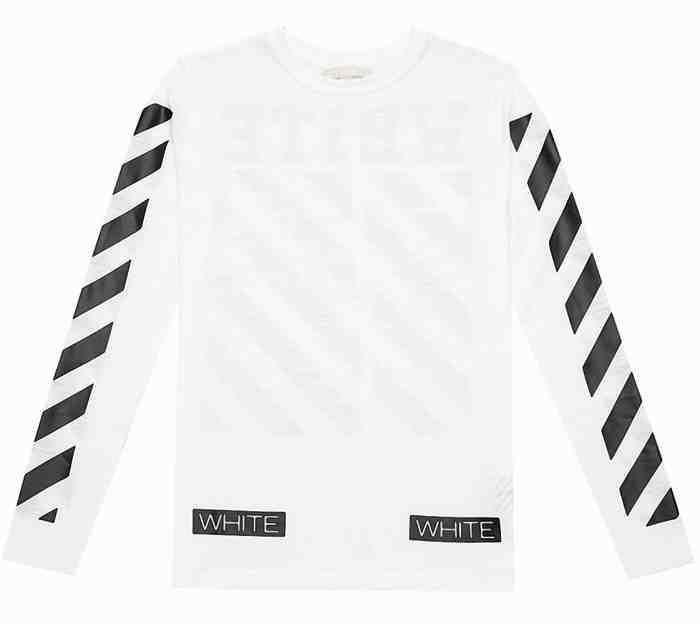 [G228]オフホワイト/OFF-WHITE/CM1101 14 00/メンズ/ロングスリーブ/長袖/Tシャツ/ホワイト