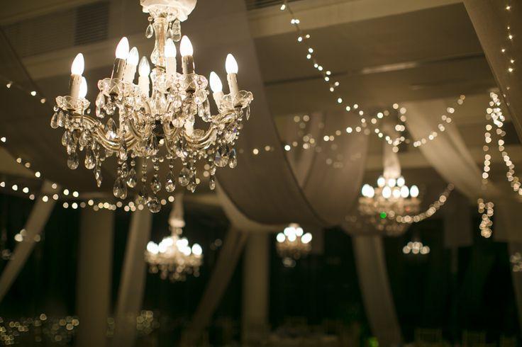 Chandeliers & Fairy Lights glowing
