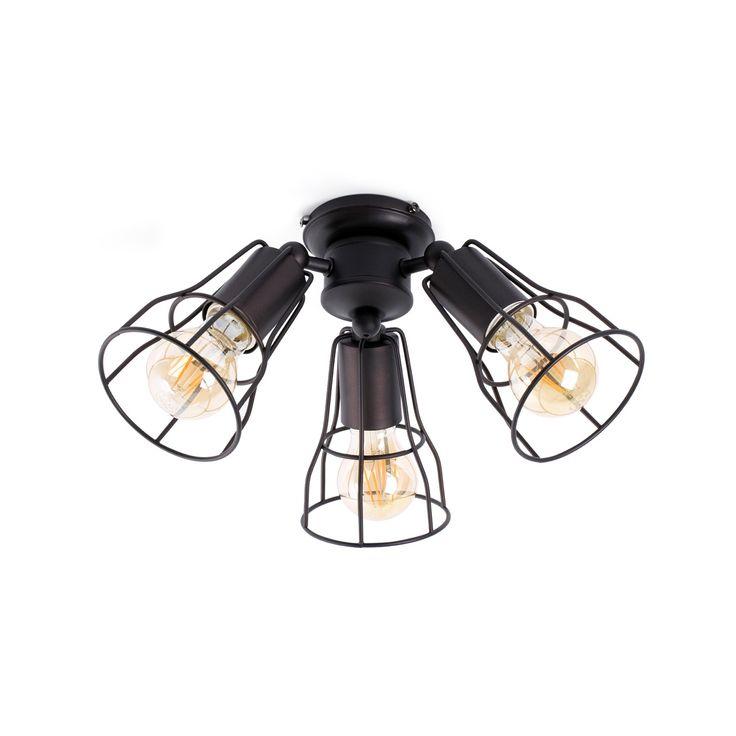 Kit Luz 3 x 60W oro viejo para ventilador #decoracion #iluminacion #diseño #lamparas #interiorismo #ventiladores #accesoriosventiladores