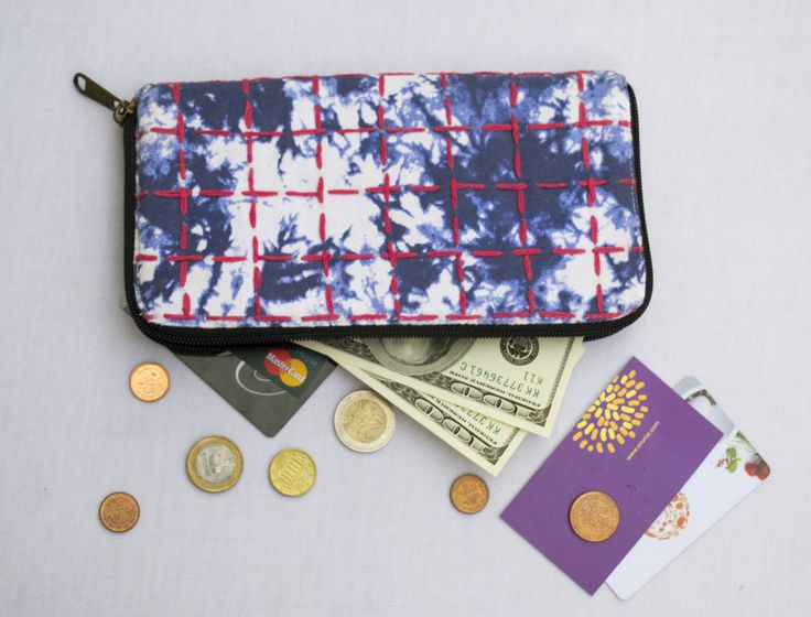 Wallet, The Indigo Moss Wallet, Wallet for Women, Vegan Wallet, Fabric Wallet, Canvas Wallet by Orunie on Etsy