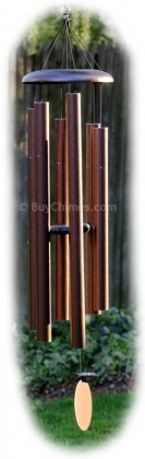 Corinthian Bells 55-inch Chime:  Deep resonant wind chime hand-tuned to the key of G.