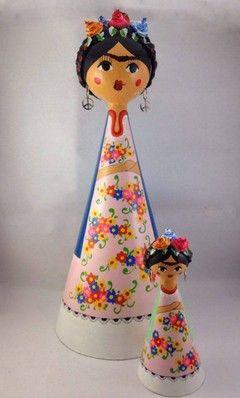 Muñecas Mexicanas de Cartapesta