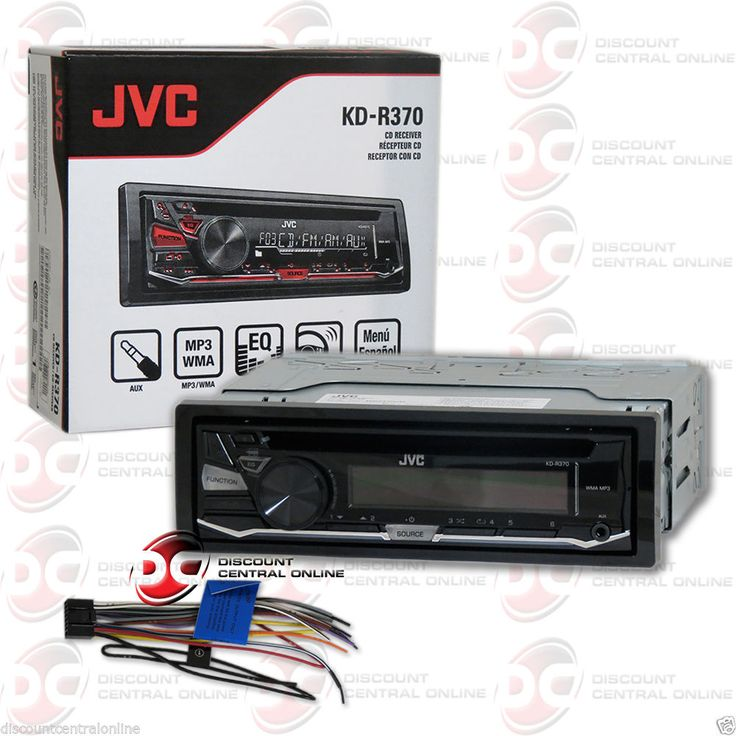 NEW JVC KD-R370 1DIN CAR AUDIO CD MP3 AM/FM EQ STEREO WITH AUX-IN