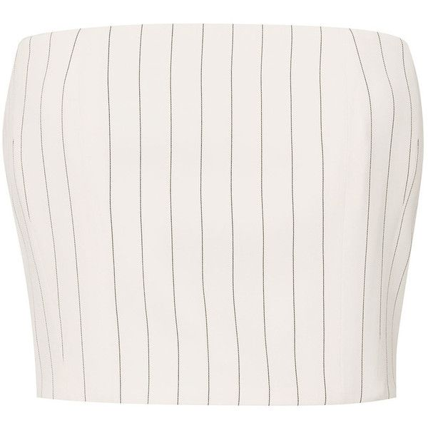 Mugler White Pinstripe Bustier Top (8.700 ARS) ❤ liked on Polyvore featuring tops, crop tops, clothes - tops, white, stripe top, striped top, thierry mugler, stripe crop top and bustier tops