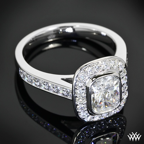 This Isabella Diamond Engagement Ring Is Set In 18k White Gold And Holds 0 26
