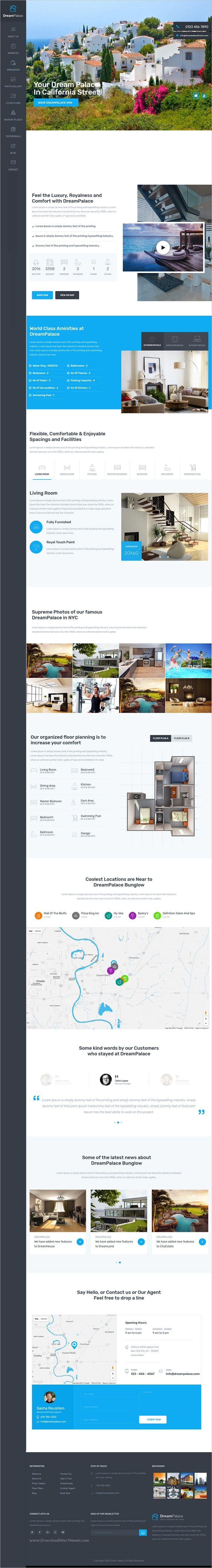 DreamPlace is a modern and trendy design 4in1 #WordPress theme for single property #realestate, #renting or selling villa and apartments websites download now➩  https://themeforest.net/item/dreampalace-single-property-real-estate-theme/19193885?ref=Datasata