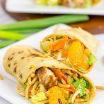 Mandarin Chicken Salad Wraps