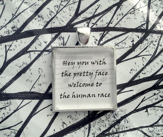 Hey you with the pretty face, Welcome to the human race  Mr Blue Sky by ELO Song Lyric Pendant by lyricallady on Etsy