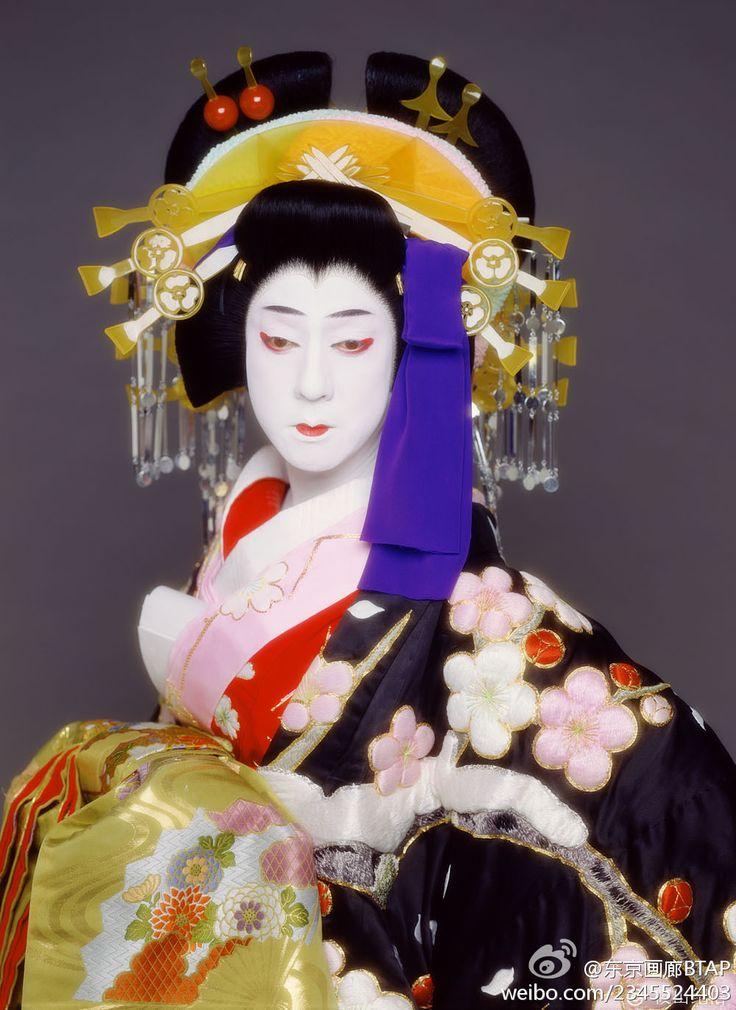 廓文章より夕霧。坂東玉三郎 Kabuki actor Tamasaburo Bando
