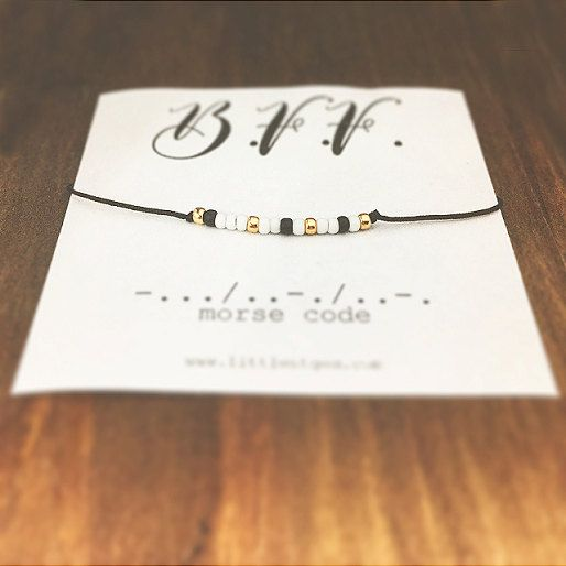 BFF Morse Code Bracelet - Friendship Bracelet - Best Friend Gift - Minimalist Jewelry - Beaded Bracelet - Personalized Bracelet