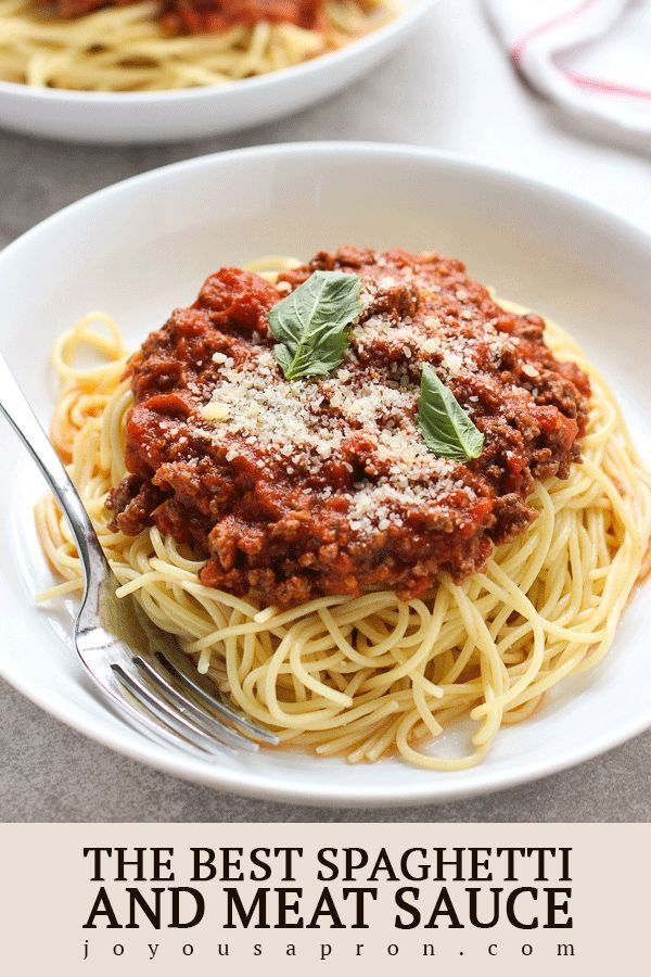 The Best Spaghetti And Meat Sauce Recipe Pasta With Meat Sauce Best Spaghetti Spaghetti Recipes Easy