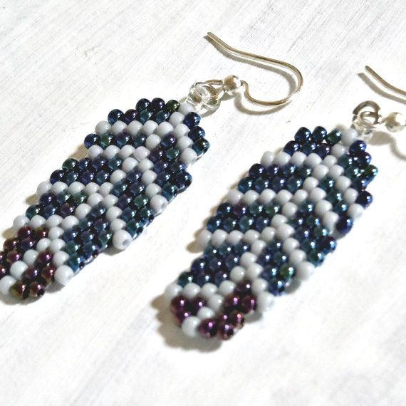 free seed bead earring patterns | ... earrings! These are handmade seed bead feather earrings that won't