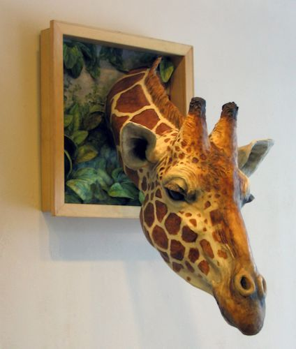 Unexpected Visitor Lori Hough Sculptor Faux Taxidermy