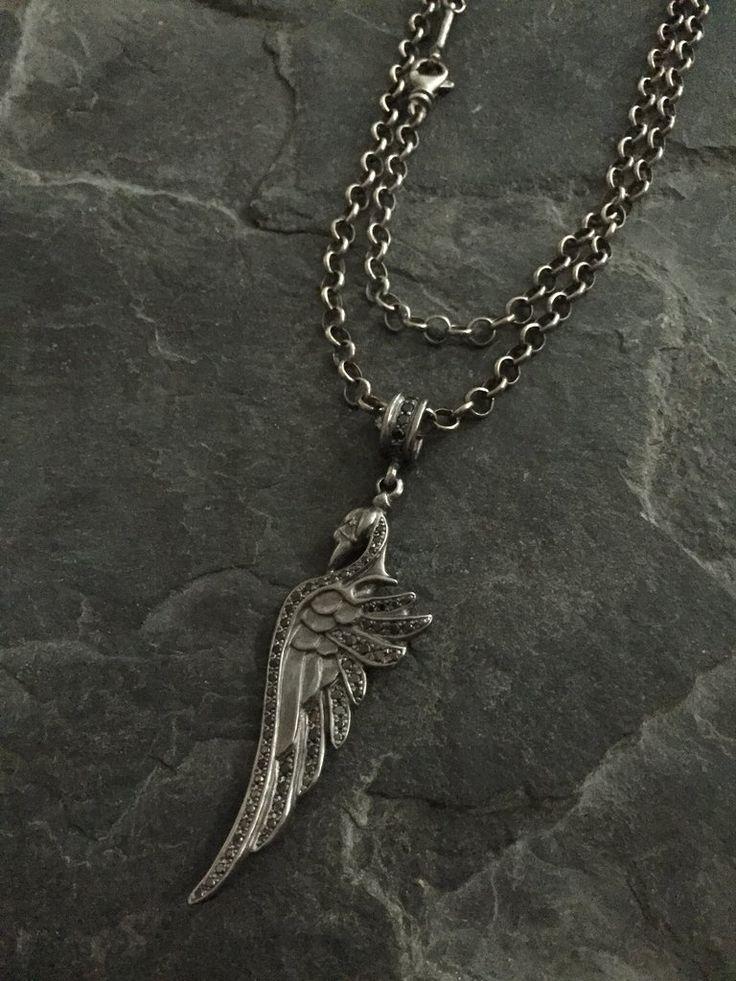 Necklace - Black Diamond Swan with Ruby Heart by Roman Paul #romanpaul