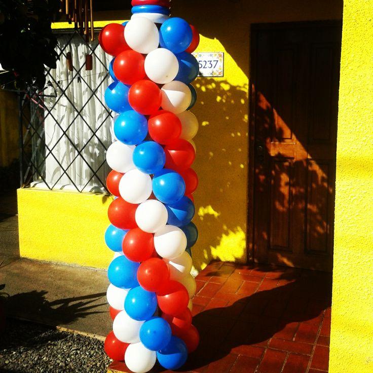 Pilar forrado con globos