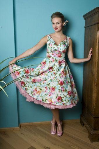 50s Sweet Dreams Flora swing dress jurk bloem