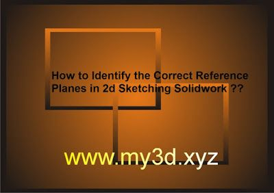 my3D: How to Identify the Correct Reference Planes in 2d...