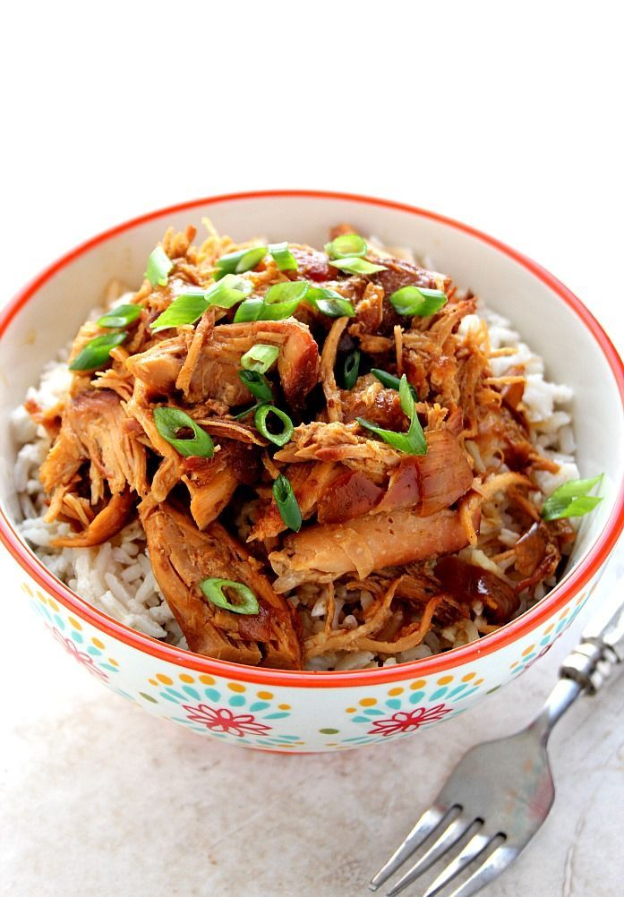 Slow Cooker Teriyaki Chicken Recipe - one of the easiest crock pot meals you can make! Chicken thighs or breasts cooked in teriyaki sauce and served over rice.