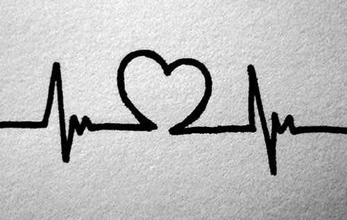 """Heart Beat"".Couples Tattoo, Tattoo Ideas, Wrist Tattoo, Tattooideas, Back Tattoo, Matching Tattoo, A Tattoo, Heartbeat Tattoo, Cute Tattoo"