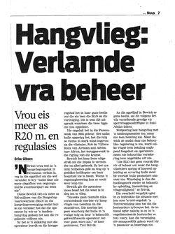 Recent Article: Hangvlieg: Verlamde Vra Beheer  Read: http://bit.ly/1LwCyog