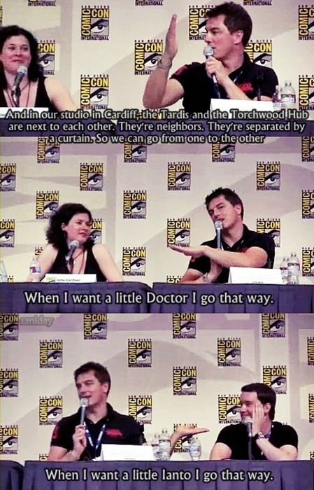 HAHA : Torchwood joke    John Barrowman, Can I please just be a female Captain Jack?! Please?!