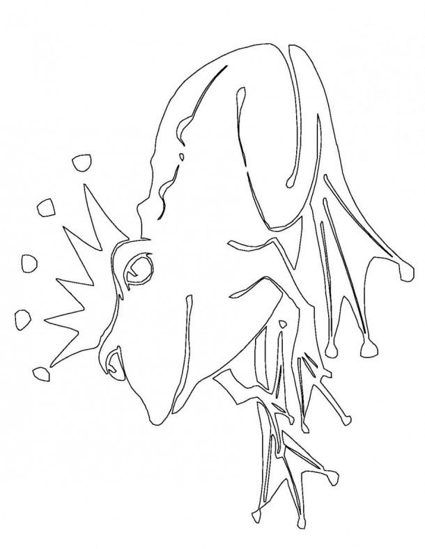frog prince coloring page animalscoloringcom