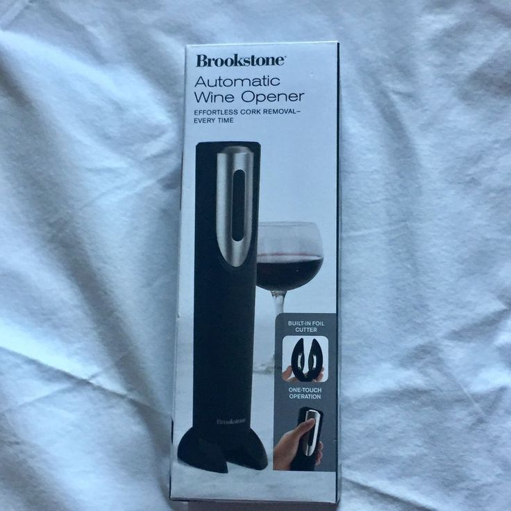 Brookstone Automatic Wine Opener Effortless Cork Removal New In Box  | eBay
