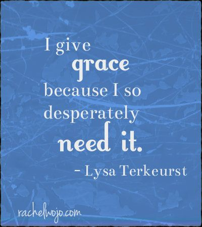 Lysa Terkeurst quote from Unglued.  Love this book.