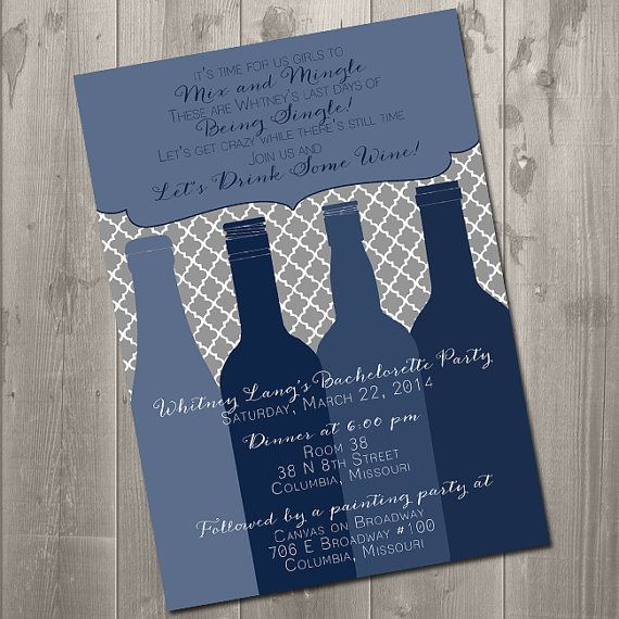 118 best images about Invitations Programs Letters – Customizable Bachelorette Party Invitations