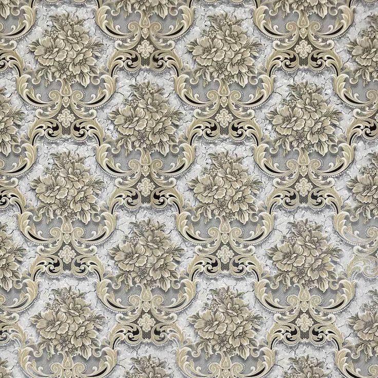 5554-02 Floral Victorian White Cream Wallpaper