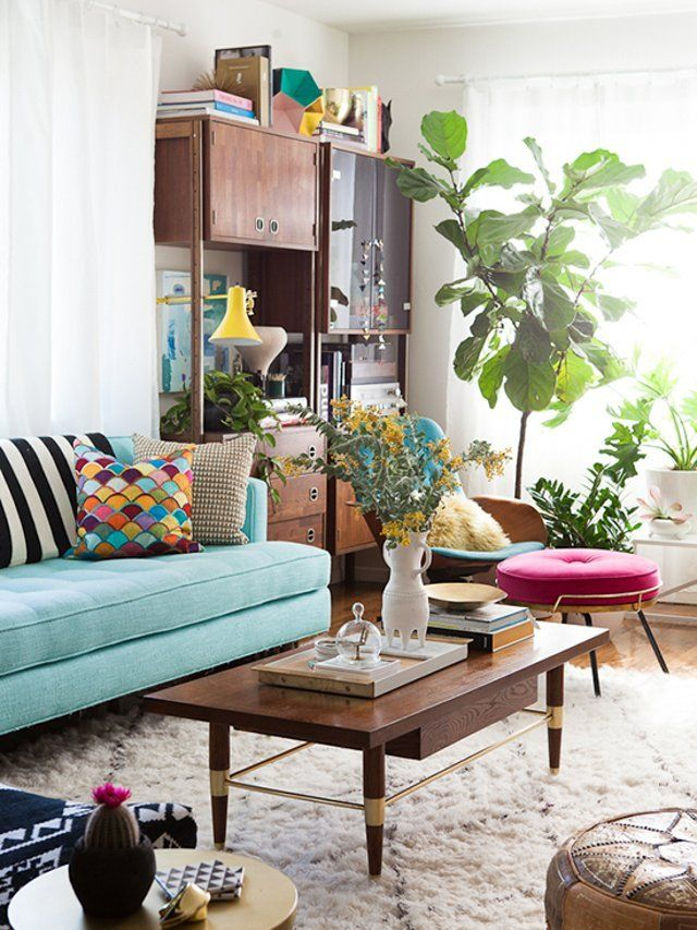 Best Home Interiors With Plants Images On Pinterest Plants - Apartment therapy living room
