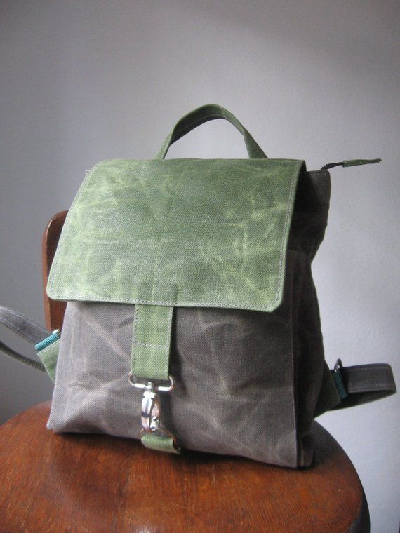 5eb5dc206 Mini Backpack , Vegan Backpack, Waxed Canvas Bag, Small Backpack, Vegan  Canvas Rucksack, Waxed Canvas Backpack, Mini Backpack Women