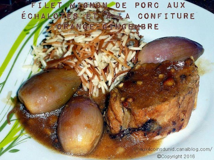 Filet mignon aux échalotes et confiture orange/gingembre de St Dalfour en cuisson basse-température