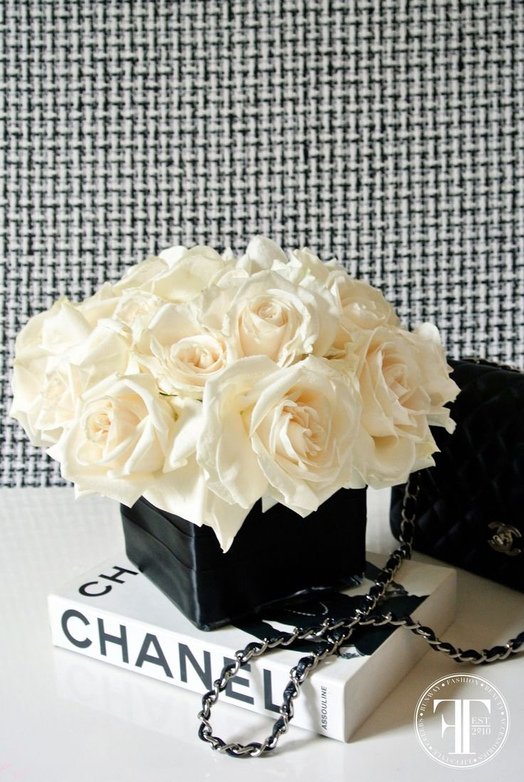 CHANEL-inspired florals by Lilla Bello. Pinned from Fashion Trend Daily's @Glossi digital magazine.