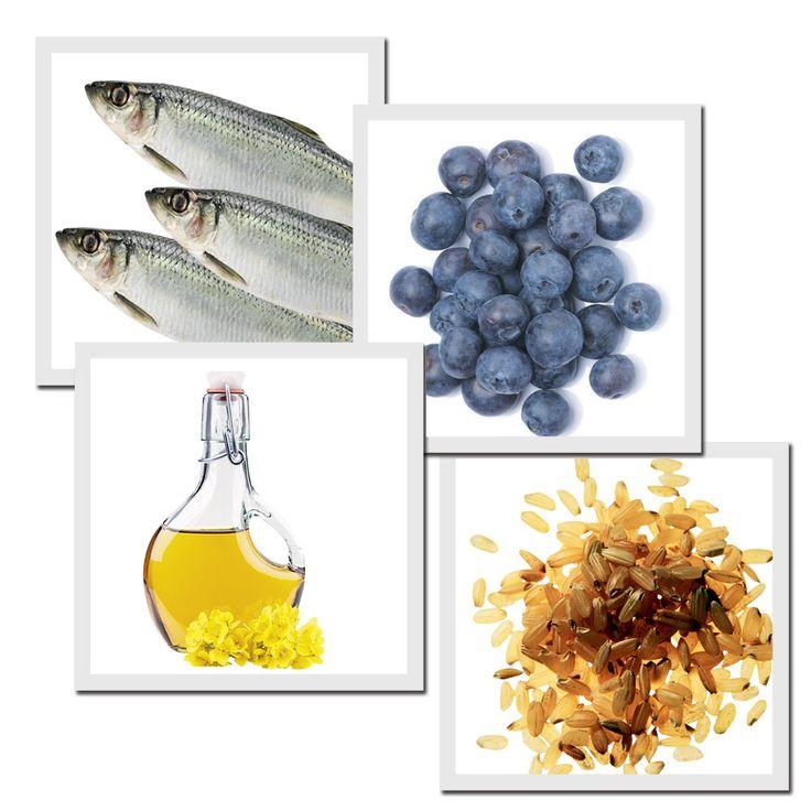 A base da dieta viking: Carne de arenque: Ajuda a controlar a pressão, reduz o risco de doenças cardíacas e os níveis de colesterol. Berries Antioxidantes e com efeito anti-inflamatório, são ótimas armas para retardar o envelhecimento da pele. Óleo de canola: Rico em ácido graxo, reduz o mau colesterol e aumenta o bom, e deve substituir o azeite de oliva. Grãos integrais Repletos de fibras, têm baixo teor de gorduras e ajudam no controle do colesterol (Foto: Ric Boman e Thinkstock)