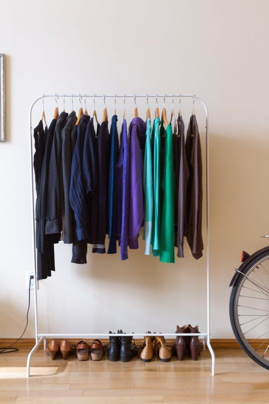 Real Small Space Closet Solutions: How To Hang Your Clothes Out In The Open  Without It Looking Like A Mess